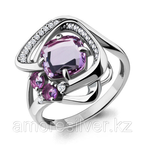 Кольцо из серебра с аметистом   Aquamarine 6907904А