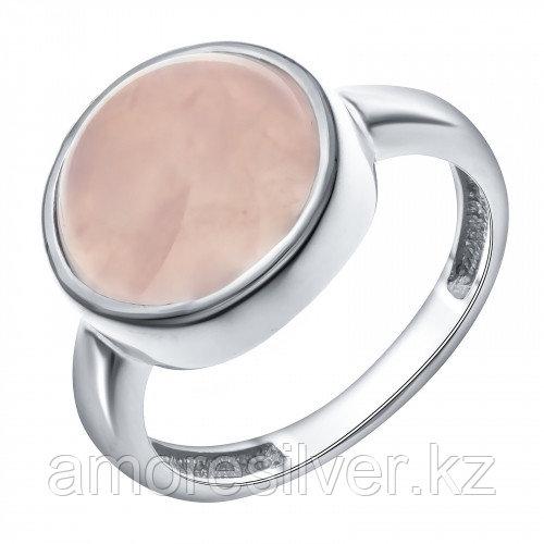 Серебряное кольцо с кварцем розовым синт.    Teosa 1000-0167-RQ размеры - 18