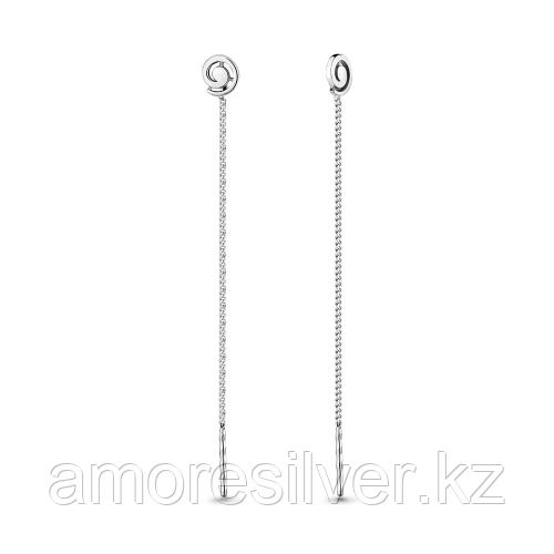 Серебряные серьги   Aquamarine 33528