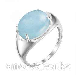 Серебряное кольцо с аквамарином   Ювелирные традиции К620-4903Акв