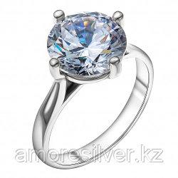 Серебряное кольцо с фианитом   Красная Пресня 2382715 размеры - 17 17,5 19 19,5
