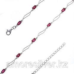 Серебряный браслет с рубином   Teosa B-DRGR00618-RB размеры - 19