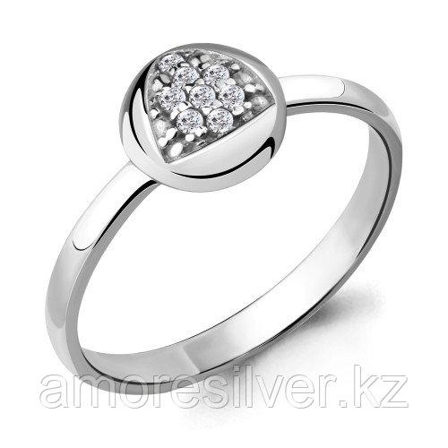 Серебряное кольцо с фианитом    Aquamarine 68554А размеры - 17,5 18