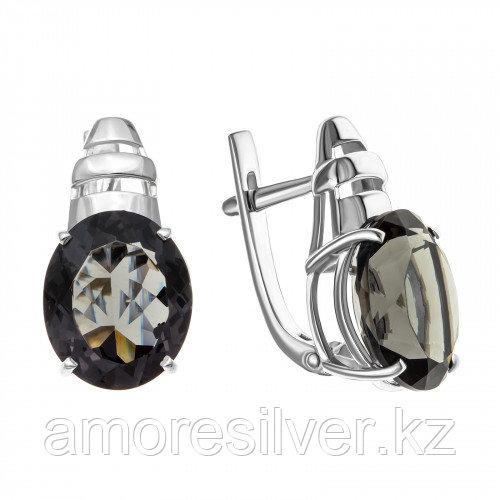 Серебряные серьги с фианитом   Teosa 2000-0189-Bdn