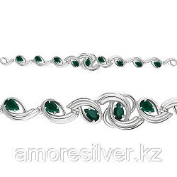 Серебряный браслет с агатом зеленым  AQUAMARINE 7431609