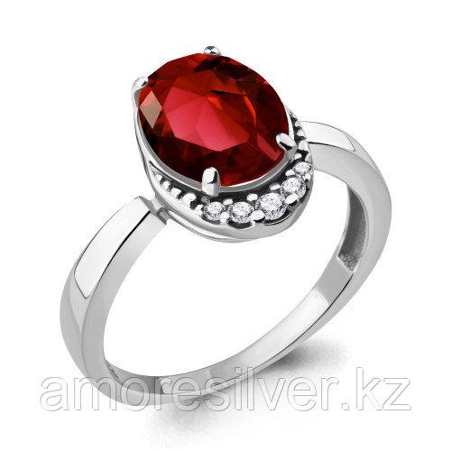 Кольцо из серебра с наногранатом синт.   Aquamarine 6917085А