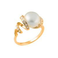 Серебряное кольцо с фианитом  Елана 17  210984з