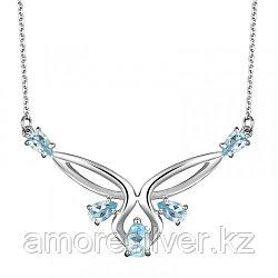 Колье из серебра с топазом   Алькор 06-0967/00ТБ-00 размеры - 45