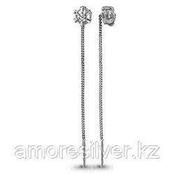 Серьги из серебра   Aquamarine 30797