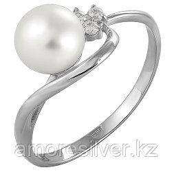 Серебряное кольцо с жемчугом   Teosa 190-5-376 размеры - 16,5