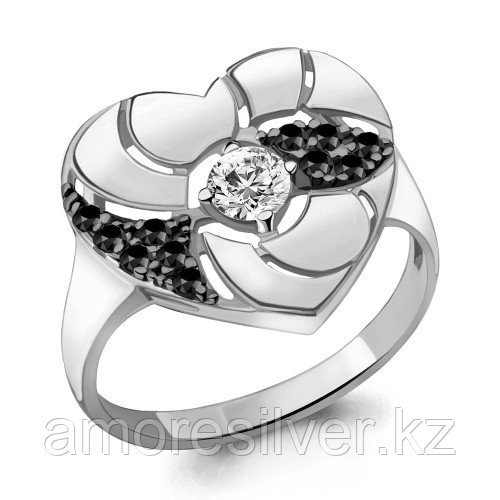 Серебряное кольцо с нанокристаллом синт.   Aquamarine 68524АЧ размеры - 18