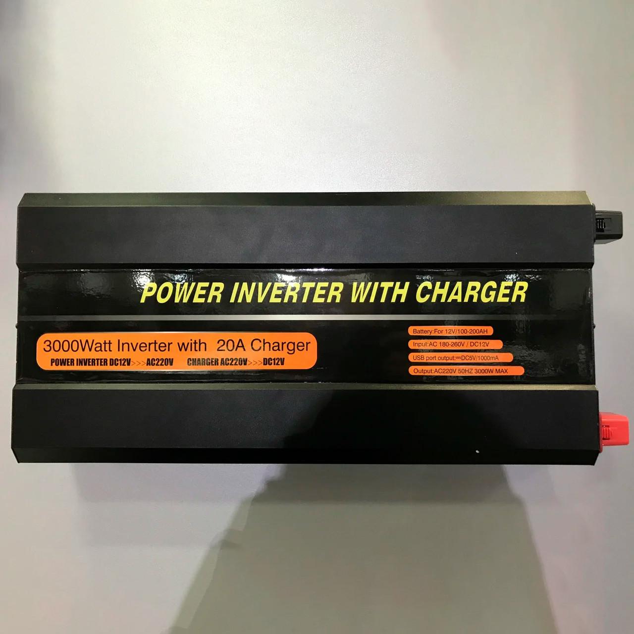 Инвертор преобразователь 12-220V 3000 ВТ
