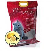 Комкующийся наполнитель Lucky Cat для туалета кошек (Лимон) - 10 л