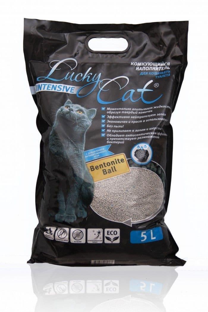 Комкующийся наполнитель Lucky Cat Intensive для туалета кошек, с активированным углем - 20 л