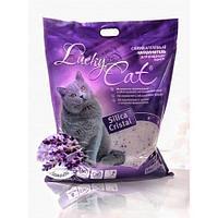 Впитывающий наполнитель Lucky Cat для туалета кошек (Лаванда) - 11 л