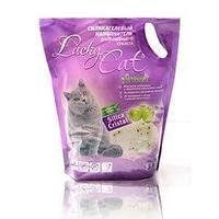 Впитывающий наполнитель Lucky Cat для туалета кошек (Яблоко) - 3.8 л