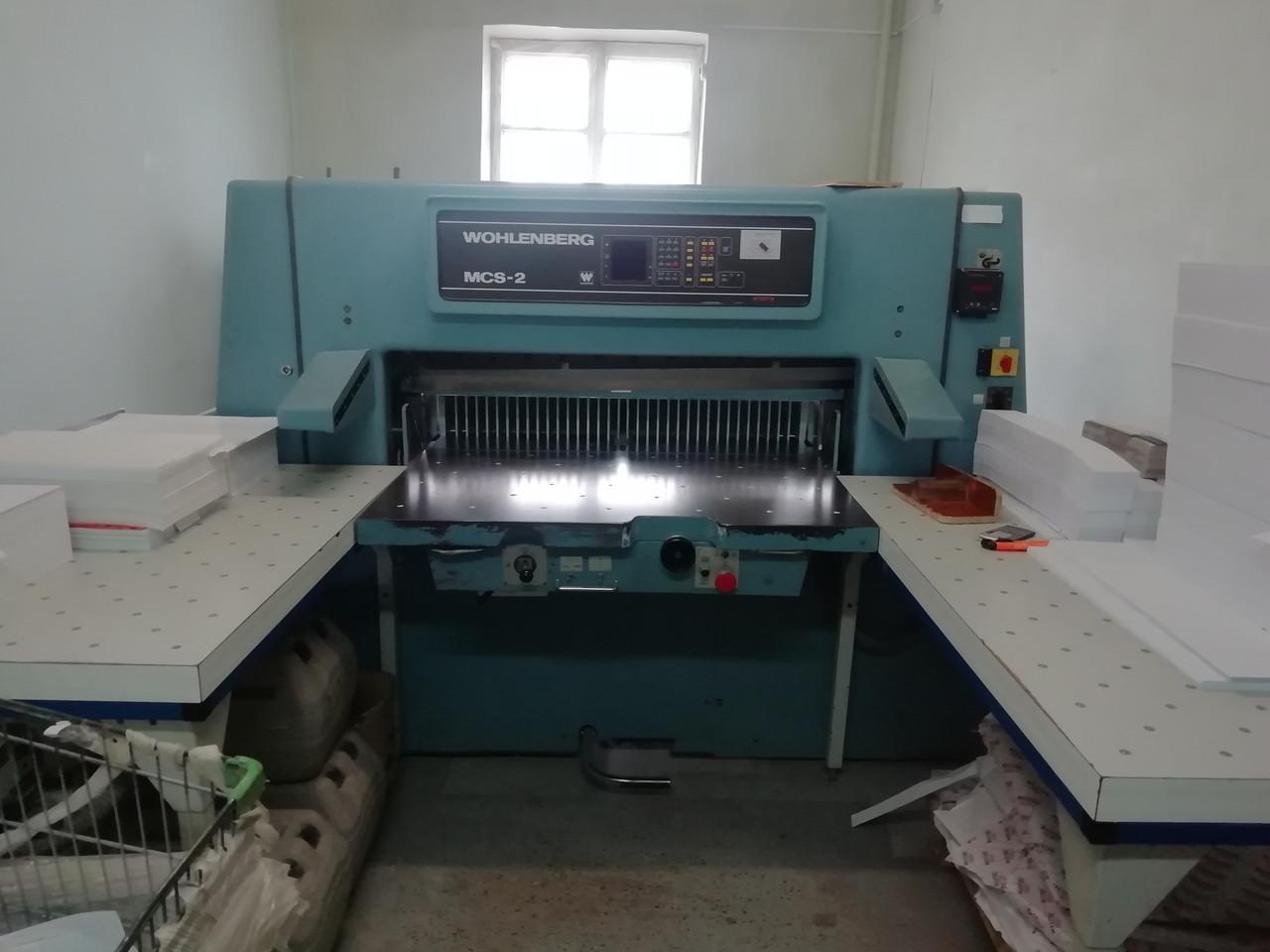 Резак WOHLENBERG 115 MCS-2, 1994 г, большие боковые столы