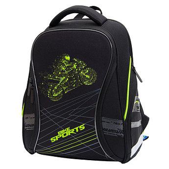 """Ранец Berlingo Nova """"Bike sports"""" 37*28*18 см, 2 отделения, 2 кармана, анатомическая спинка"""