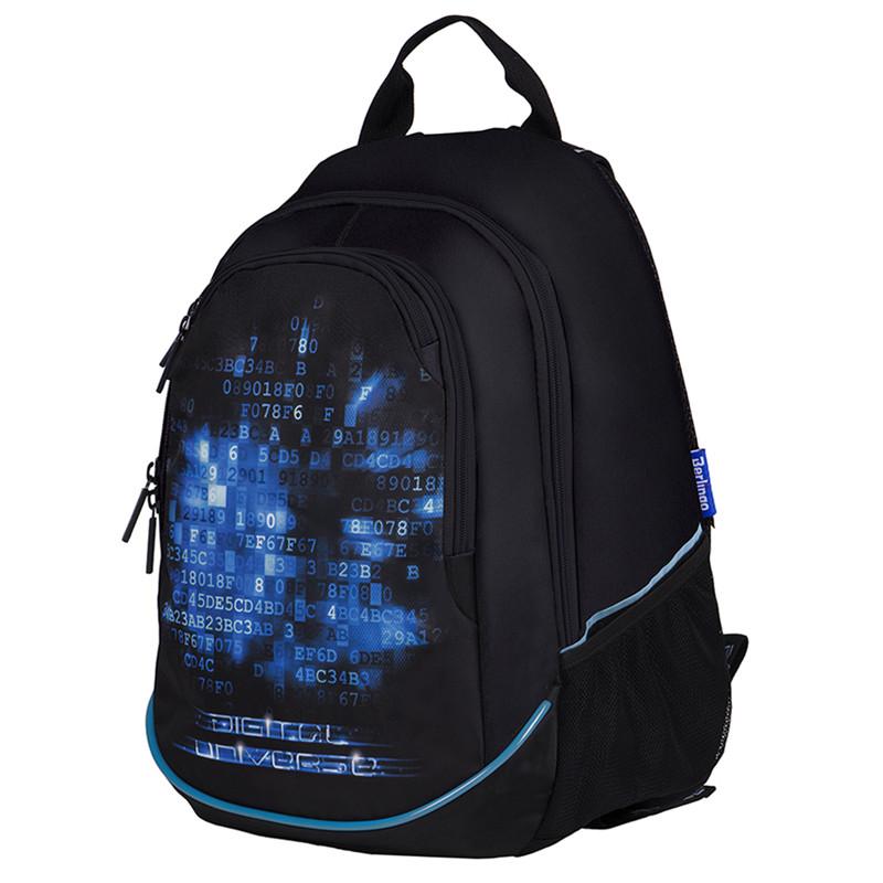 """Рюкзак Berlingo b_Active """"Digital"""" 41*30*17см, 2 отделения, 4 кармана, эргономичная спинка, LED кант"""