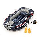Лодка надувная BESTWAY Н-Force Treck X2 Set 61068 (255х127см, Винил, Трёхкамерная)