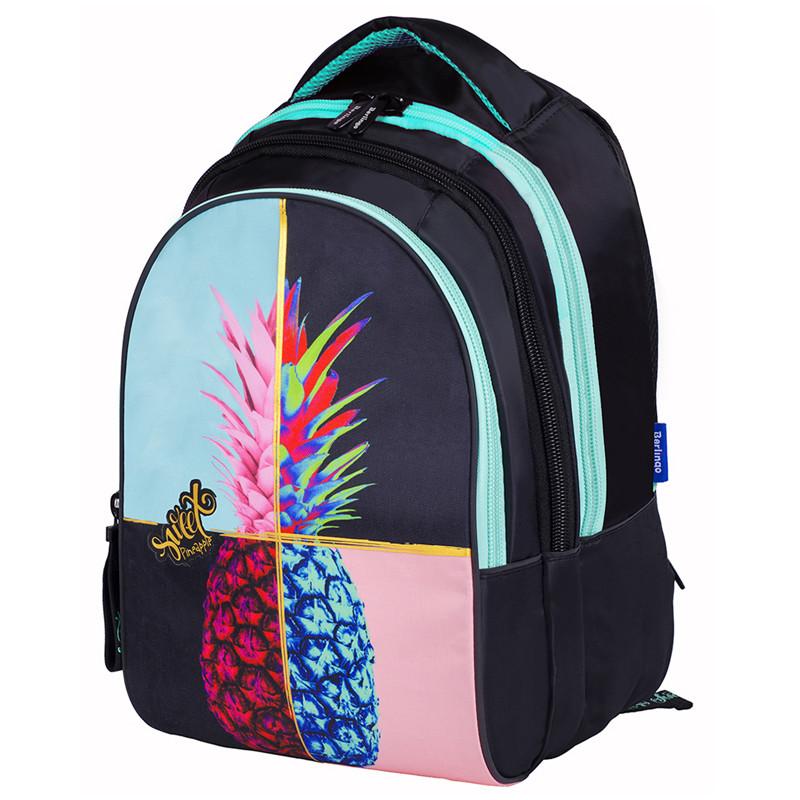 """Рюкзак Berlingo inStyle """"Pineapple"""" 41*27*20 см, 3 отделения, 1 карман, эргономичная спинка"""