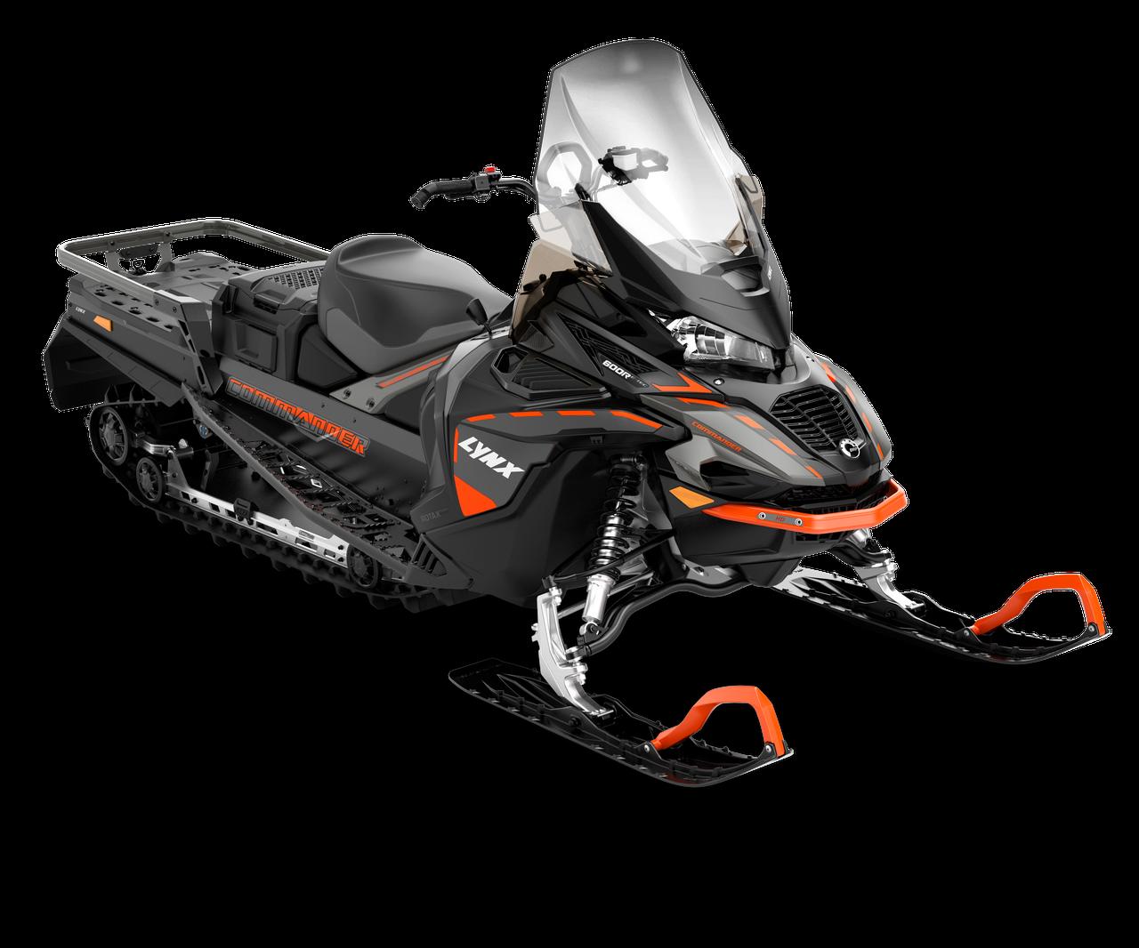 Снегоход Commander Studded track 38 mm 900 ACE Черно-серый 2021