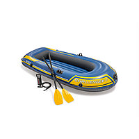 Лодка надувная INTEX С 2 set 6+ 68367NP (236х114см, Винил, Трёхкамерная)