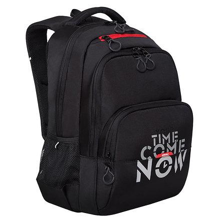 Рюкзак Grizzly, 32*45*23см, 2 отделения, 3 кармана, анатомическая спинка, черный-красный, фото 2