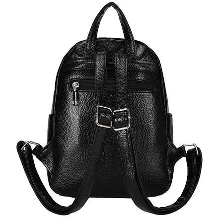 Рюкзак Ors Oro, 28*22*12см, 1 отделение, 5 карманов, экокожа, черный металлик, фото 2