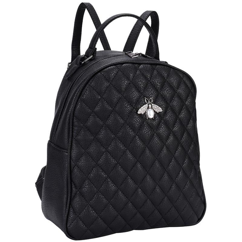 Рюкзак Ors Oro, 31*26*11см, 1 отделение, 1 карман, экокожа, черный