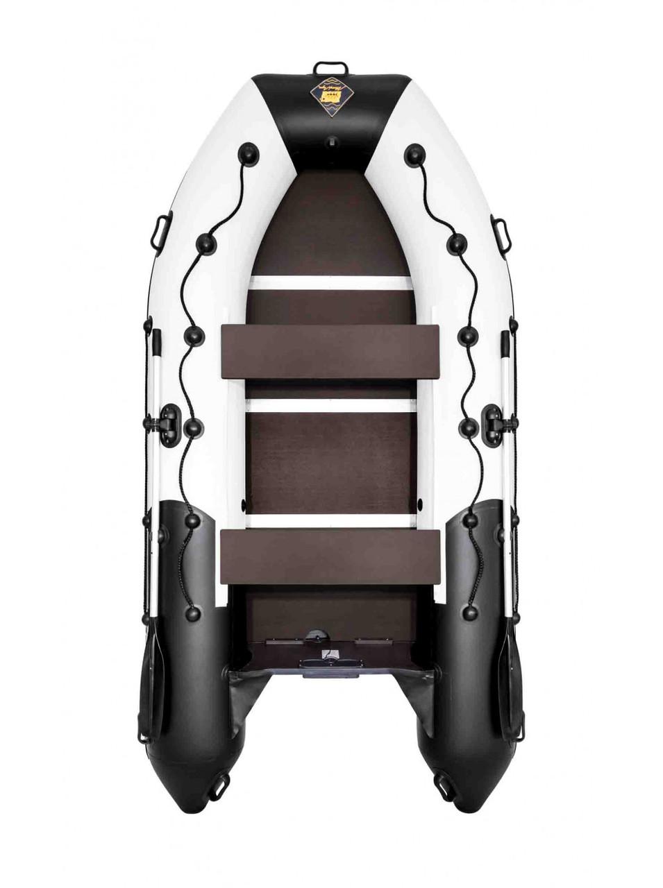 Лодка Ривьера Максима 3400 СК комби светло-серый/черный