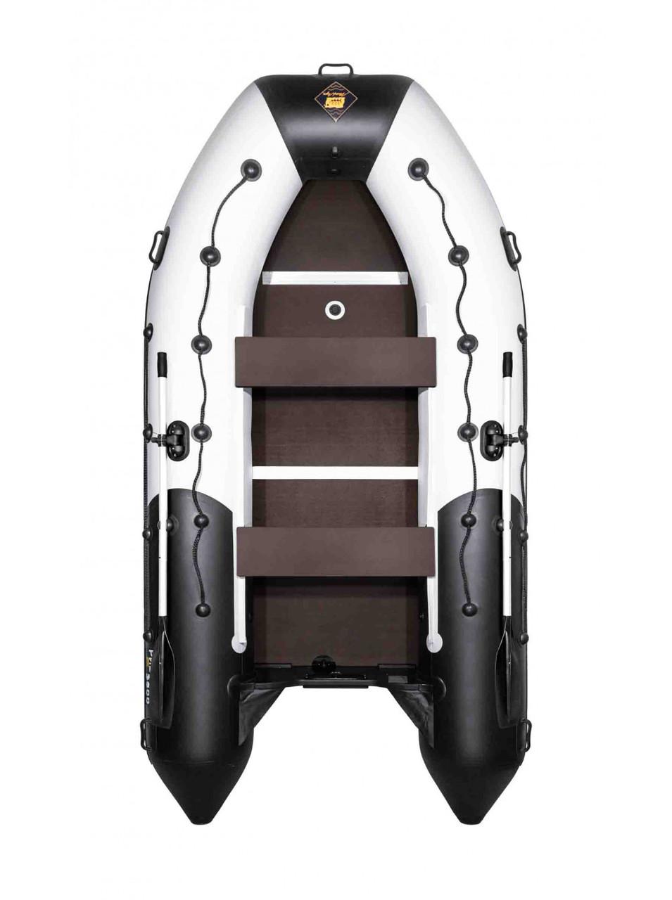 Лодка Ривьера Максима 3600 СК комби светло-серый/черный