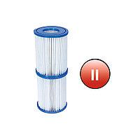 Картридж для ф-насоса BESTWAY Flowclear тип II 58094 (10.6х13.6см, Сменный, 2 шт., Blue-White)
