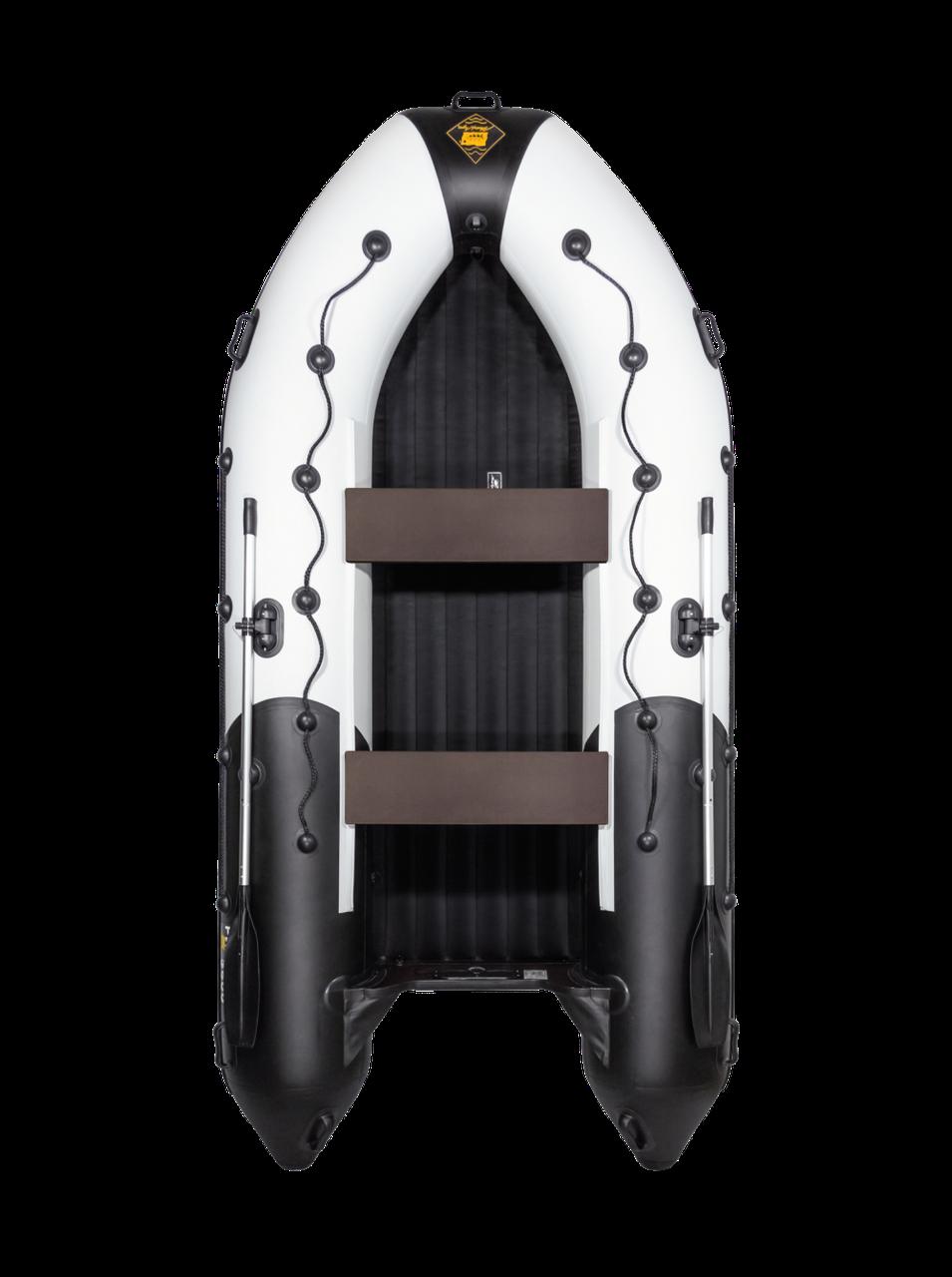 Лодка Ривьера 3600 НДНД Гидролыжа комби светло-серый/графит