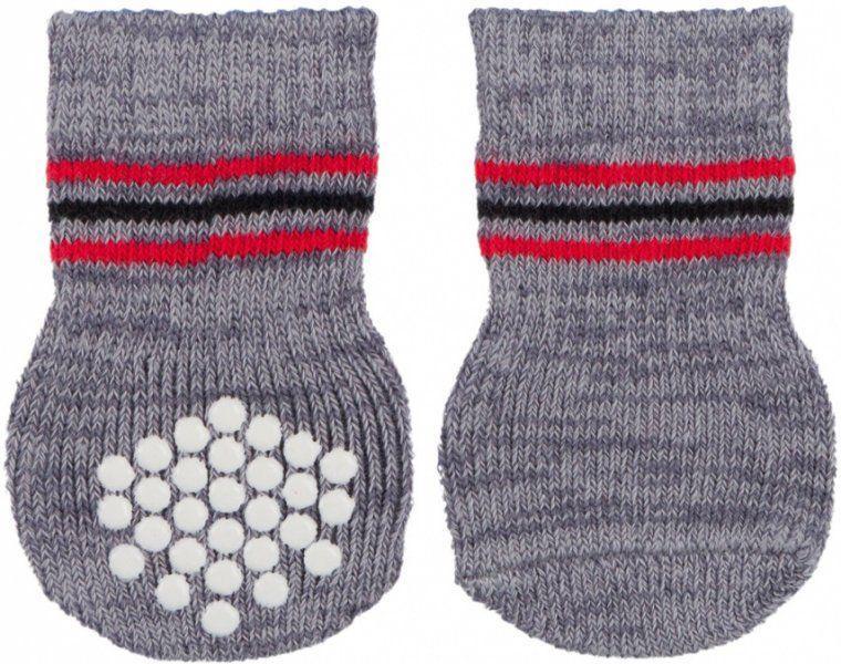 Носки нескользящие Trixie для собак из хлопка (Серые) - XXS-XS, 2 пары