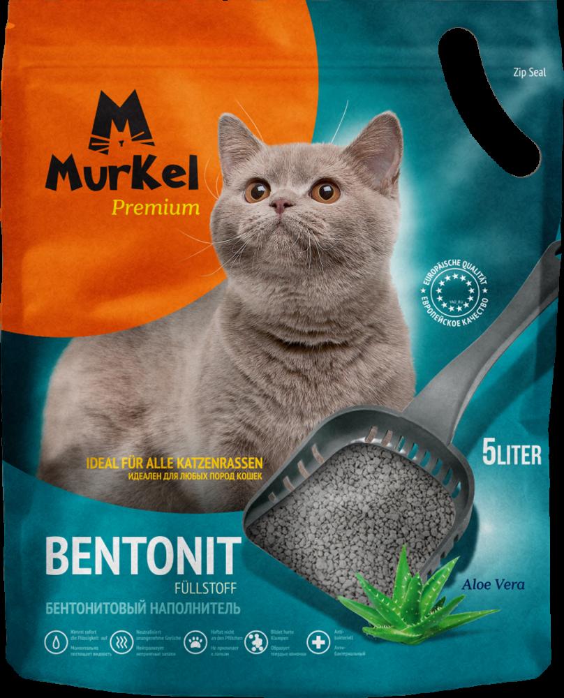 Комкующийся наполнитель Murkel для туалета кошек (Алоэ Вера) - 5 л