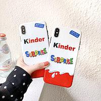 Силиконовый чехол Kinder Oreo на iPhone 6/6+/6s/6s+/7/7s/8/8+/X/XS/XS Max/ XR/11/11 pro/11 pro Max