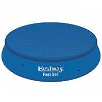 Тент для бассейнов с надувным бортом Fast Set 396 см (d 415 см), Bestway 58415