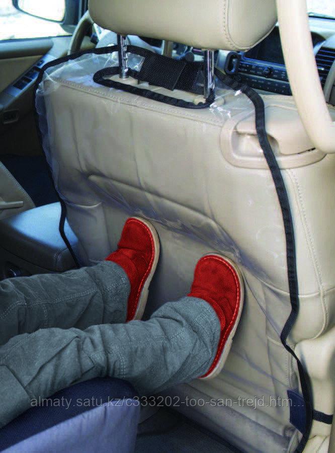 Защитная накидка на спинку автомобильного сиденья(60х40) с голубой окантовкой