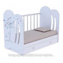 Детская кроватка Wind tree маятник +ящик(цвет бежевый,белый), фото 2