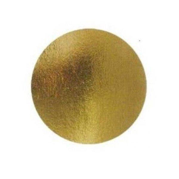 Подложка золото D 120 мм ( Толщина 0,8 мм )*100 шт/упак