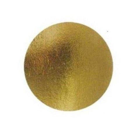Подложка золото D 120 мм ( Толщина 0,8 мм )*100 шт/упак, фото 2