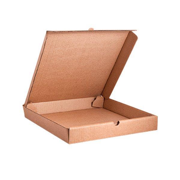 Коробка д/пиццы, 420х420х40мм, бур., микрогофрокартон E, 50 шт