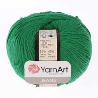 Пряжа YarnArt Пряжа YarnArt Jeans Цвет.52 Зеленый