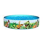 Детский бассейн с жёсткой стенкой BESTWAY Dinosaurous Fill 'N Fun 55001 (244х46см, Особопрочный)