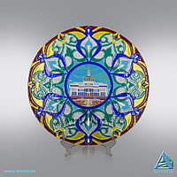 Стеклянная тарелка «Ак Орда» (Сувенир)