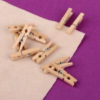 Прищепки для шитья, 3 x 0,5 x 0,3 см, 10 шт, цвет бежевый (комплект из 2 шт.)