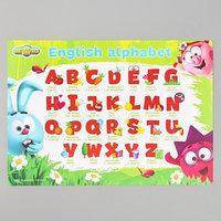 Коврик для лепки 'Английский алфавит' СМЕШАРИКИ, формат A4