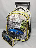 Школьный рюкзак на колесах для мальчика 5-6 лет.Высота 42 см,длина 24 см,ширина 17 см., фото 1