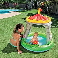 """Детский надувной бассейн """"Королевский замок"""" с навесом, Intex 57122"""